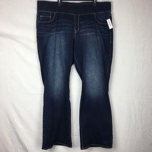 Old Navy Dark Wash Rockstar Bootcut Jeans